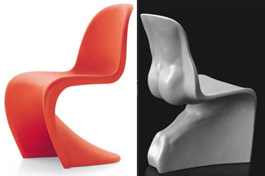 Знаменитый Panton Chair Вернена Пантона и анатомический стул Фабио Новембре